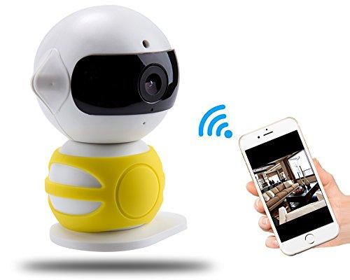 【2016 NEW RELEASE】 Angin-Tech 720P 360 IP-Kamera WiFi Drahtlose Überwachungskamera mit Neuen PIR-Technologie, Full-HD-Stecker / Wiedergabe Heimüberwachungskamera , Pan / Tilt mit Zwei - Wege-Audio und Nachtsicht , Ero Falsche Bewegung Ermitteln und E-Mail-Alarm, Wireless Network Wolke Baby Monitor Nanny Kamera