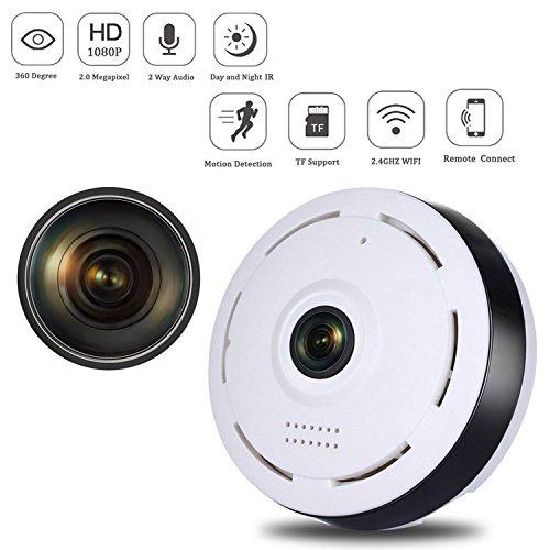 Mini IP Überwachungskamera 960P Panorama WIFI Kamera 360 ° Grad Fisch Auge Objektiv IP Video Aufnahme Nachtsicht 2 Weg Audio / Bewegungsmelder für Haus / Baby Überwachung SW05