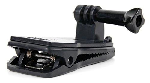 DuraGadget 360 Grad drehbare Befestigungsklammer für Ihre Vemont 1080P 12 MP sowie Victure AC200 / AC400 / AC600 Action Kamera