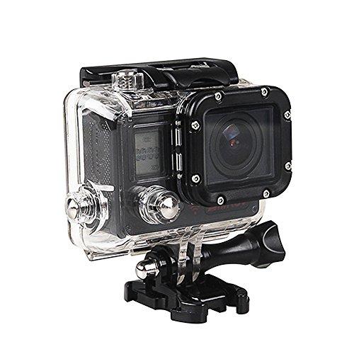 VIGICA ACT74S WiFi Action Kamera 20MP Unterwasserkamera 40m 4K HD Sport Cam 170° Weitwinkel mit 2.4 G Handgelenk Fernbedienung Zubehör Kits Schwarz